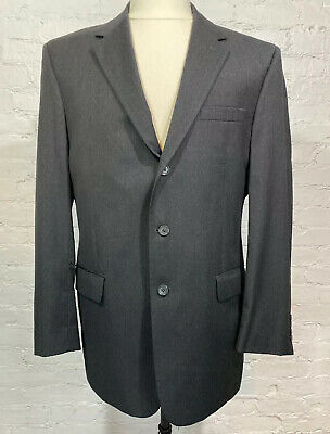 JOS A BANK Mitchell Blazer Men's 42L Charcoal 100% Wool Signature Collection