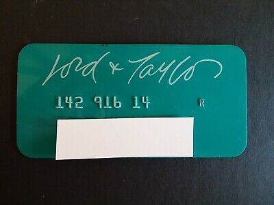 Vintage Lord & Taylor Collectible Credit Card. Used. Expired 1970's.