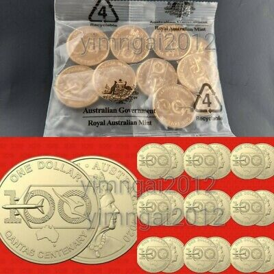2020 Qantas Centenary $1 Mint Bag of 10 Uncirculated, Latest Release IN STOCK