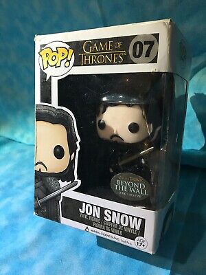 Funko Pop Jon Snow Glitter Beyond The Wall Exclusive Sticker Game Of Thrones #07
