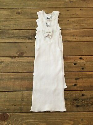 3 x TARGET White Baby Singlets Size 00 3-6 Months Brand New with Tag