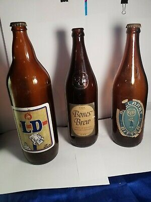 Vintage Beer Bottles x3 -  x2 cub  & one property of courage