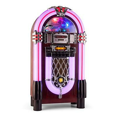 (B-Ware) Jukebox Xxl Musikbox Cd Mp3 Player Bluetooth Usb Sd Led Beleuchtung