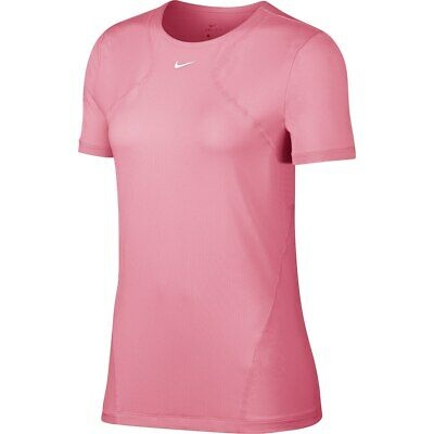 TOP DA TRAINING Donna Nike PRO T shirt Rosa Leggera