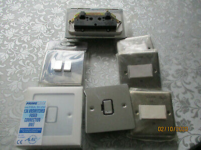 Job Lot Of 8 Switches Sockets Fuse Floor Sockets All New