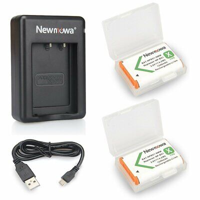 Newmowa NP-BX1 Replacement Battery (2-Pack) and Rapid Dual Charger