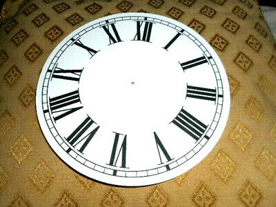 "Round Paper (Card) Clock Dial - 4 1/2"" M/T - Roman - MATT WHITE - Parts/Spares"