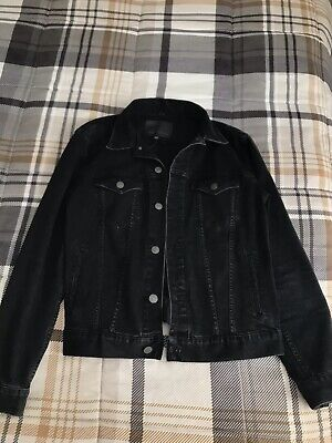 American Eagle Men's Black Denim Jacket Extreme Flex Size M-orig. price $90