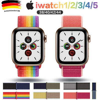 Apple Watch Armband Nylon iWatch Series 5/4/3/2/1 Sport Loop 38 40 mm 42 44 mm