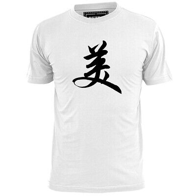 Mens Chinese Beauty Symbol T Shirt Oriental Calligraphy