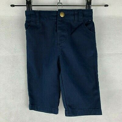 Mama's & Papa's Baby Boys Age 3-6 Months Navy Blue Chinos