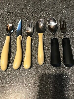 OXO Good Grips Cutlery Disability Eating Utensil Aids Bendable & Caring Set Aged