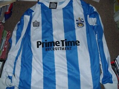 Vintage Andy Booth Signed Huddersfield Town Prime Time Recruitment Home Shirt L
