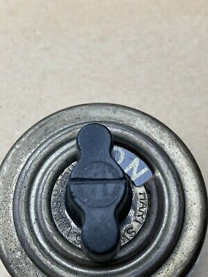 ANTIQUE Hart & Hegeman ON-OFF Rotary Electric Switch Porcelain Single Pole Brass