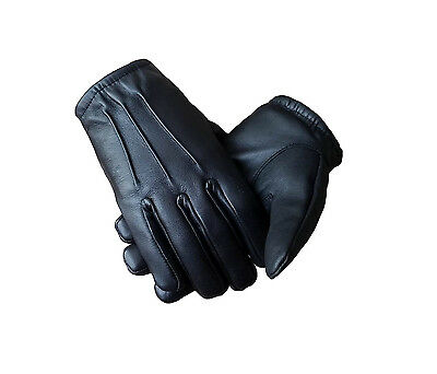 Winter Gloves S M L XL Dress Casual Thermal BROWN LEATHER Quality Driving Police