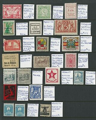 Spain Cinderella Collection of Mostly 1930s including Civil War, Locals & More