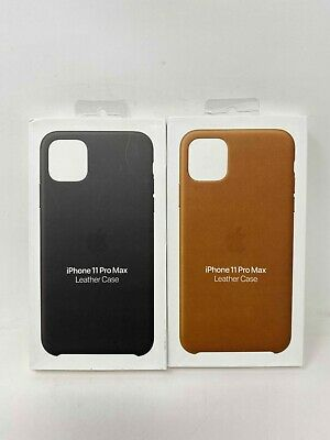 "Apple Leather Case for iPhone 11 Pro Max 6.5"" - Brown / Black"