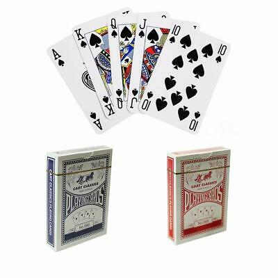 2 Decks of Professional Plastic Black Playing Cards Poker Size Various Colours