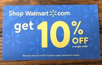 WALMART 10% OFF Coupon, Expires 3/15/2020.  Purchases up to $200 = $20 OFF