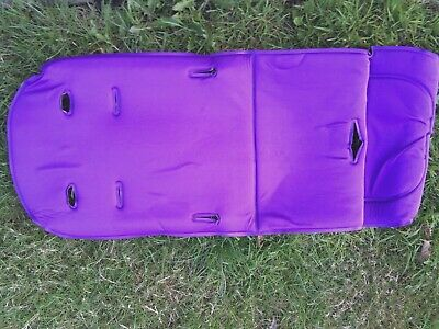 Universal Baby Stroller Purple & Black Padded Buggy Pushchair Liner