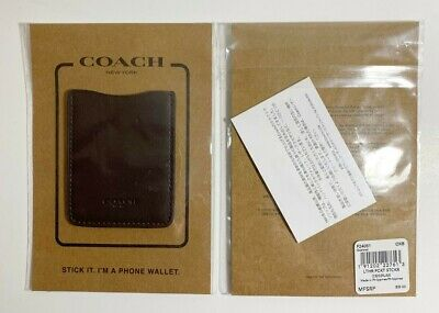 Coach Brown (OxBlood) Wallet Leather Cell Phone Pocket Sticker Card Holder