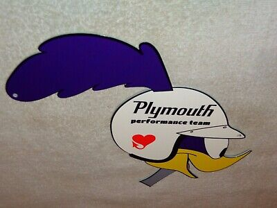 "Vintage Road Runner Dodge Plymouth Performance 13"" Metal Gas Oil Sign Roadrunner"