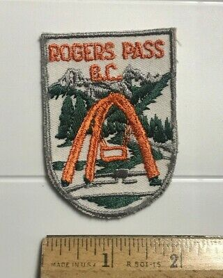 Rogers Pass British Columbia BC Mountain Pass Canada Embroidered Souvenir Patch