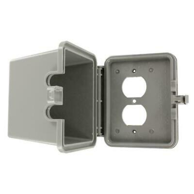 Leviton 1-Gang Raintight While-In-Use Duplex Outlet Device Mount, Gray