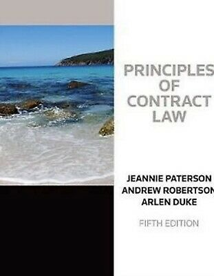 PDF: Principles Of Contract Law 5th Ed Jeannie Paterson, Andrew Robertson