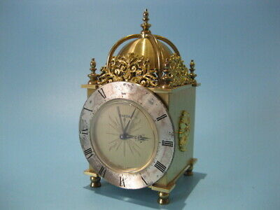 Very Nice Little Vintage Brass Cased SWIZA 8-Day Swiss Made Carriage Alarm Clock