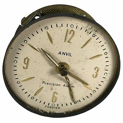 Antique Vintage Anvil Precision Alarm Clock Movement & Face . 6 Cm <Hm07 (T26)