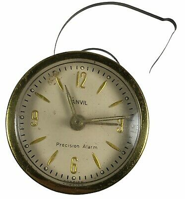 Antique Vintage Anvil Precision Alarm Clock Movement & Face 6 Cm. <Hm07 (T26)