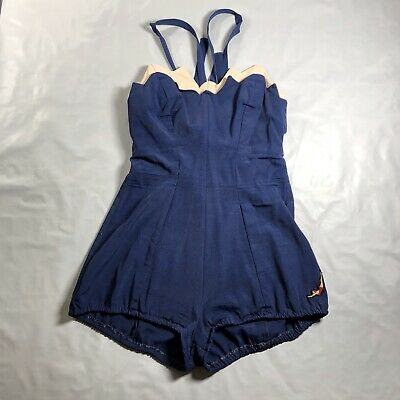 Vintage 1950's Jantzen Women's One-piece Swimsuit Size 14/36