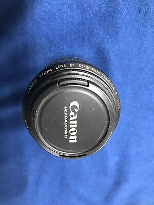 Canon Zoom EF 55-200mm f/4.5-5.6 IS II USM w/ Caps Excellent Condition.