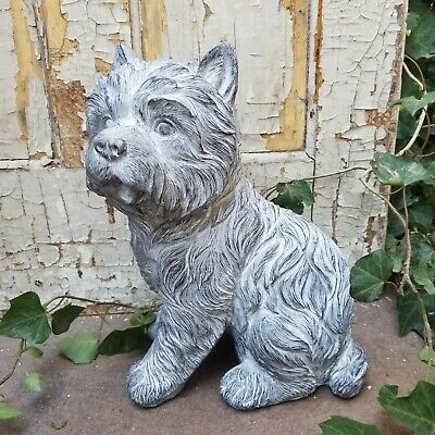 Resin Magnesium Terrier Dog Figurine Statue