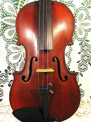 Lovely Old French Antique J.T Lamy Medio Fino Violin 4/4 Ready to Play! No Resrv