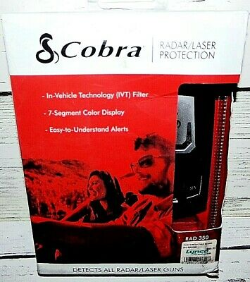 New Cobra Rad 350 Radar/Laser Detector