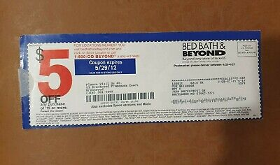 7 Bed Bath & Beyond Coupons  for $5 off any purchase of $15 or more