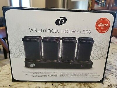 "T3 Voluminous Hot Rollers Velvet Curlers 73701 In Box W/ Travel Bag 1.75"" 1.50"""