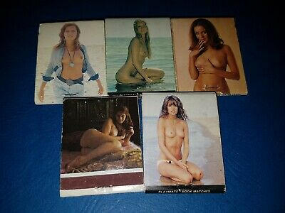 Lot Of 5 Vintage Topless Waitresses / Old Hackney Cellars Match Books VGC