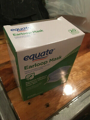 20 PCS Disposable Face Mask 3-Ply Ear Loop - Bacteria & Infection Control