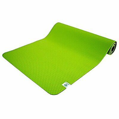 TechFit Colchoneta de Yoga 6mm Antideslizante, Fitness, Pilates, (Verde)