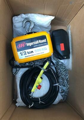 "Ingersoll Rand Qch50-1Nd50H20-16-3C Electric Chain Hoist 1/2"" Tons 230V 3 Phase"