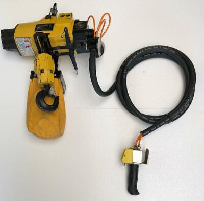 Endo Ehl-1Tw Pneumatic Air Chain Hoist 1 Ton Capacity 10 Ft. Chain Length