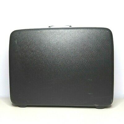 Samsonite Silhouette Hard Shell Suitcase Black W/out Key Vintage 25x18x8