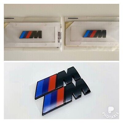 2x For BMW M Sport Emblem Gloss Black Sticker Side Wing Fender M Power Badge