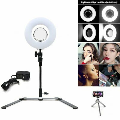 Studio LED Photo Video Ring Light Dimmable + Camera iPhone Holder + Stand Xmas