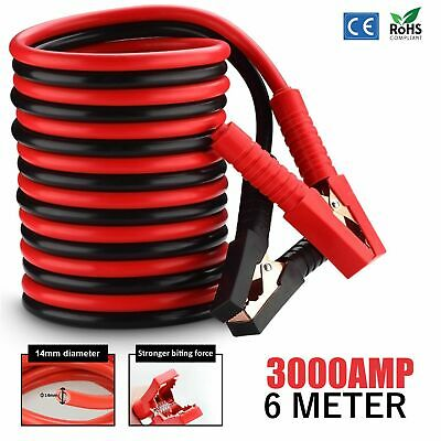 Heavy Duty Jump Leads Car Truck 6M Booster Cables Starter Battery Start 3000AMP