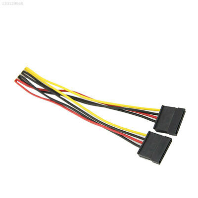 SATA 4PIN To 15Pin 1 In 2 Splitter Power Cable Lead Line Adapter Connector 18CM