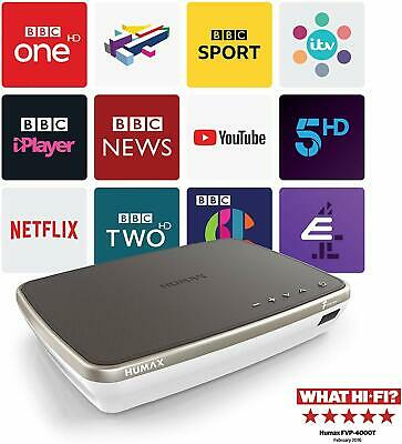 Humax FVP-4000T 1TB Freeview Play HD TV Recorder , Cappuccino, Gold & White